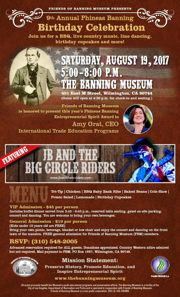 Register for the 9th Annual Phineas Banning Museum Celebration!