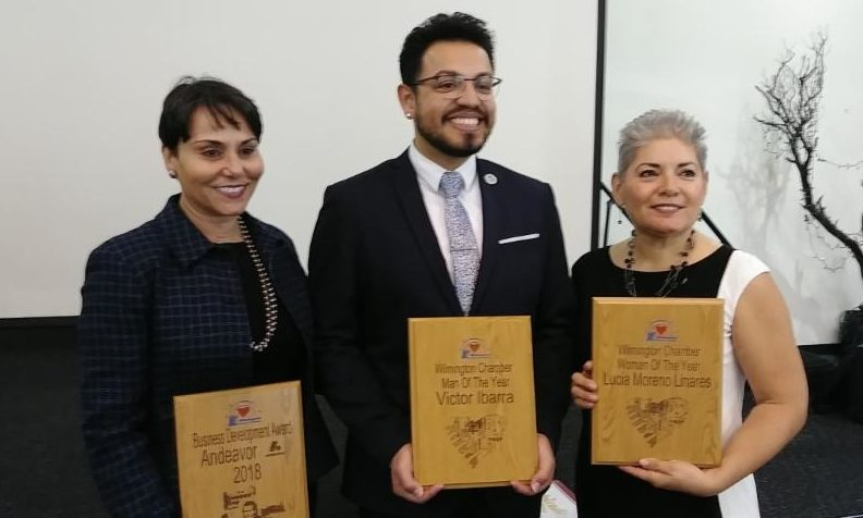 Congratulations Woman of the Year.... Commissioner Lucia Moreno - Linares Man of the Year .... Victor Ibarra Business Development Winner ... Andeavor