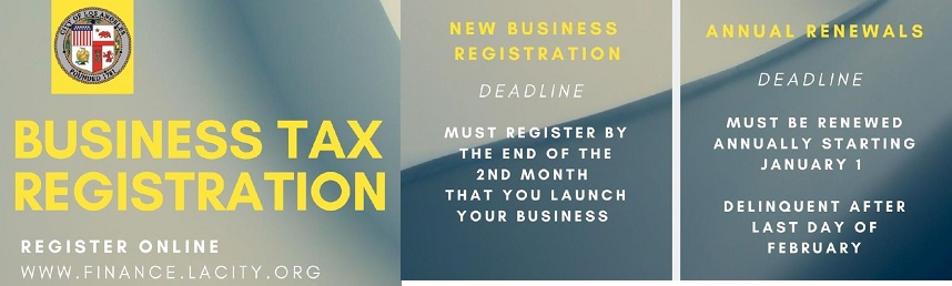 Deadline for City Tax Registration