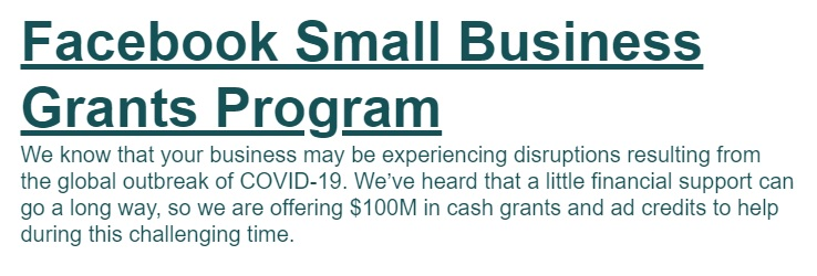Small Business Grants Program